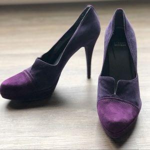 Stuart Weizmann Dipsy purple suede heels size 11